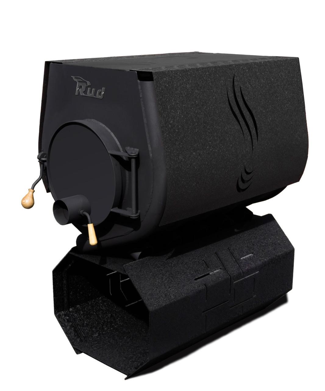 Отопительная печь Rud Pyrotron Кантри 03 с варочной поверхностью (S= 240 кв.м. х 2,5 м) черная