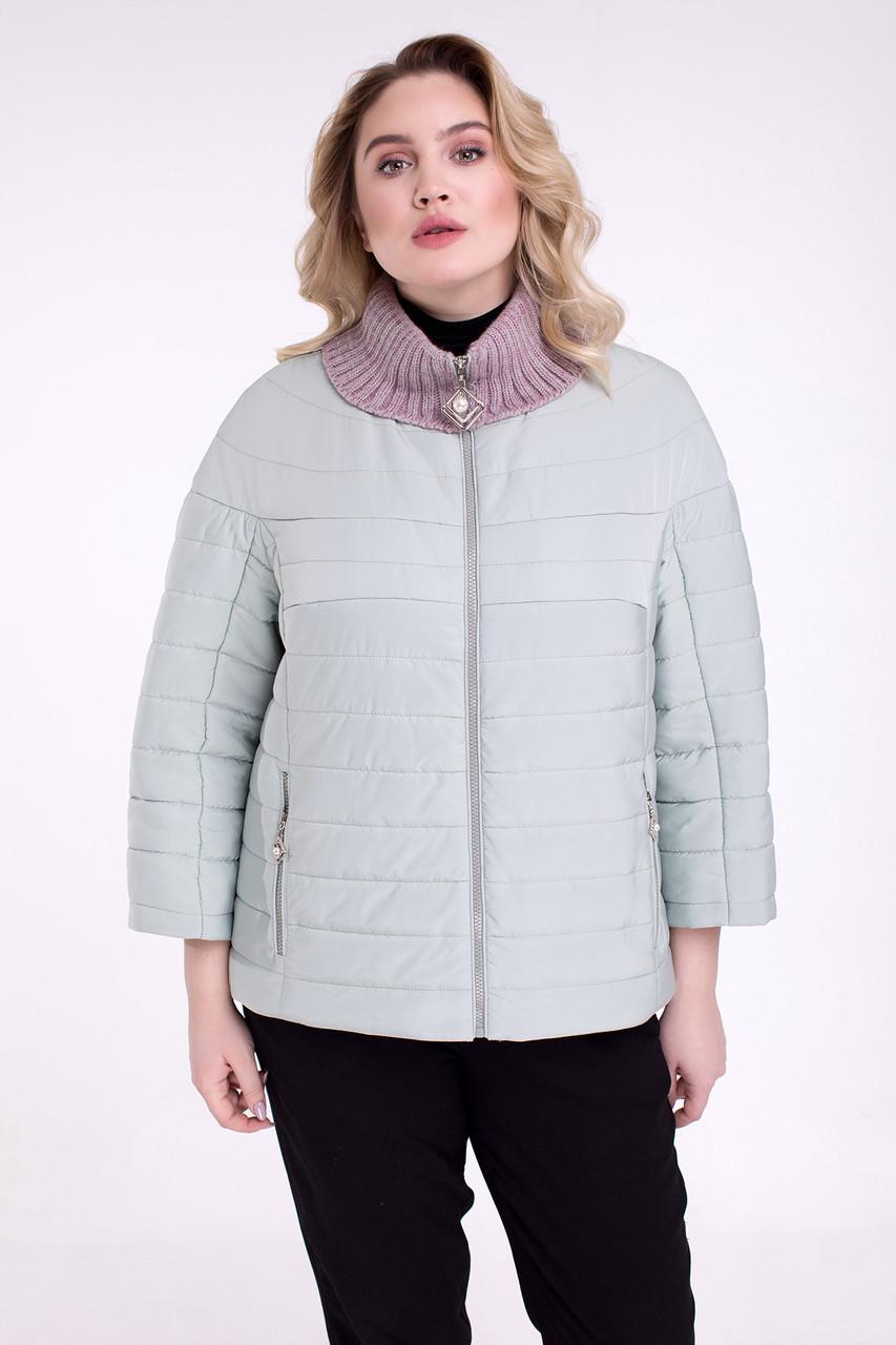 Короткая демисезонная куртка больших размеров 48-60