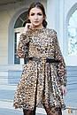 Шифоновое принтованное платье леопард 31plt1988, фото 3