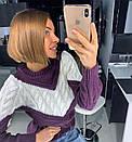 Вязаный свитер женский крупной вязки 18dis416, фото 2