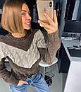 Вязаный свитер женский крупной вязки 18dis416, фото 3