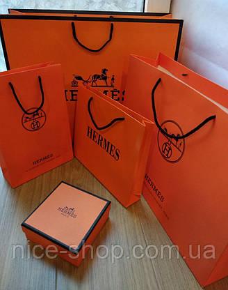 Подарочный пакет Hermès: вертикаль, mахi, фото 3