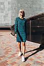 Платье вязаное с принтом в расцветках 14plt1998, фото 3