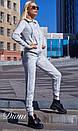 Спортивный женский костюм теплый с худи 14spt499, фото 2