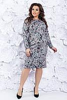 Трикотажное платье 50-56 р ( разные цвета )