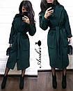 Кашемировое женское Пальто классика под пояс 8pal147, фото 3