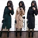 Кашемировое женское Пальто классика под пояс 8pal147, фото 4