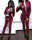 Брючный женский костюм с кардиганом 9kos882, фото 3