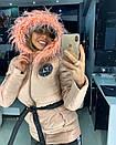 Женский зимний теплый костюм с опушкой 18grk30, фото 4