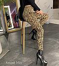 Трикотажные женские лосины в принт леопард 73bil286, фото 2