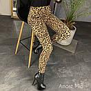 Трикотажные женские лосины в принт леопард 73bil286, фото 3