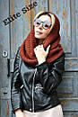 Женский вязаный хомут из шерсти в расцветках 6gol156, фото 2