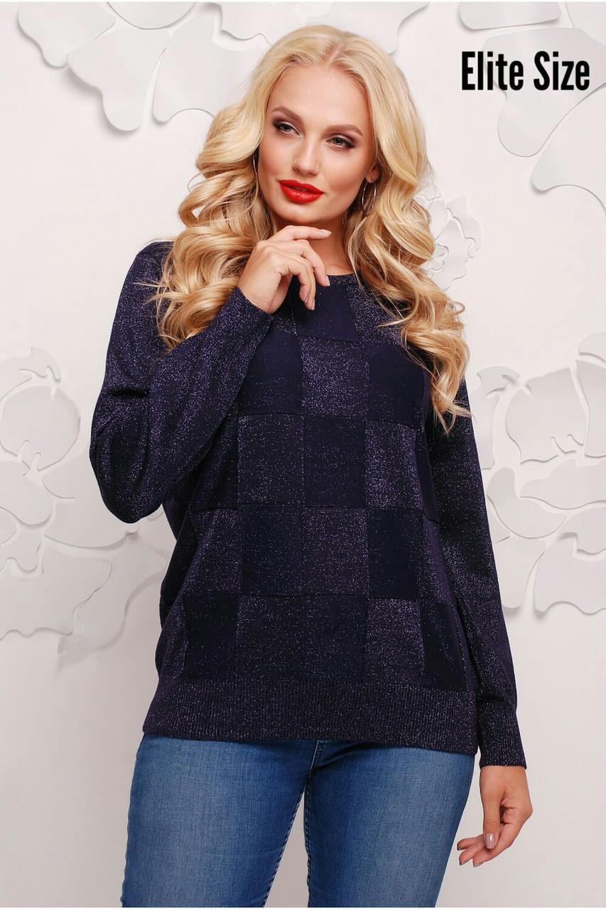 Женский прямой свитер из люрекса 6blr1133