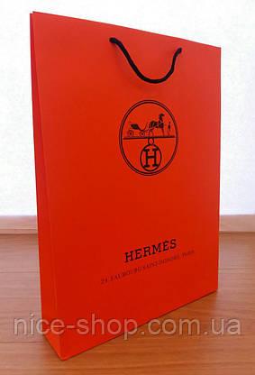 Подарочный пакет Hermès: вертикаль, mахi, фото 2