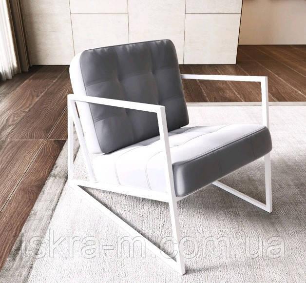Белое кресло лофт