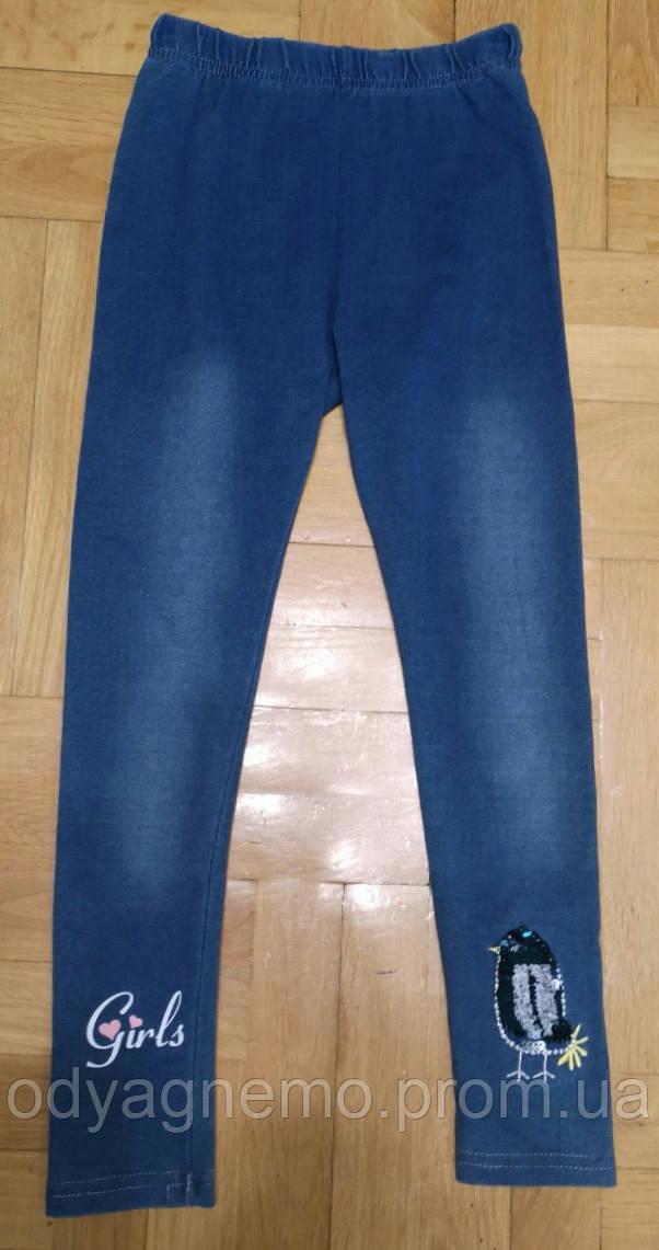 Лосины с имитацией джинсы для девочек Grace оптом , 86-116 рр.