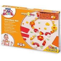 Набор FIMO kids для изготовления бижутерии Цветы 4 цв.*42 г 8033 02