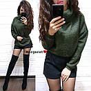 Свободный ангоровый свитер с высокой горловиной 9dis453, фото 6