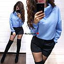 Свободный ангоровый свитер с высокой горловиной 9dis453, фото 7