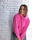 Теплый женский свитер свободный с горловиной 3dis458, фото 7