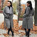 Женское Пальто из замши с искусственным мехом 58pal152, фото 2