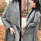 Женское Пальто из замши с искусственным мехом 58pal152, фото 4