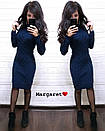 Вязаное платье до колен с узором 8plt2052, фото 3