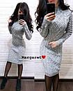 Вязаное платье до колен с узором 8plt2052, фото 7