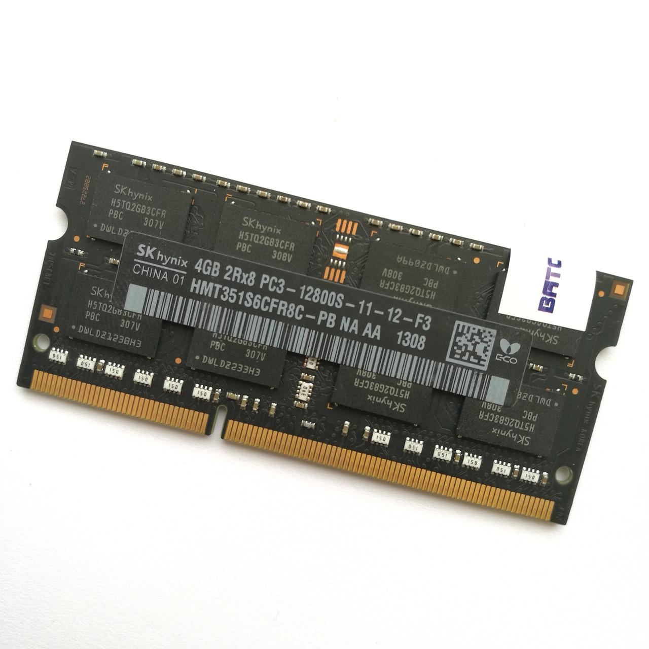 Оперативная память для ноутбука Hynix SODIMM DDR3 4Gb 1600MHz 12800s CL11 (HMT351S6CFR8C-PB NA AA) Б/У