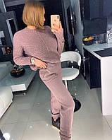 Женский брючный костюм из шерсти вязаный 18kos892