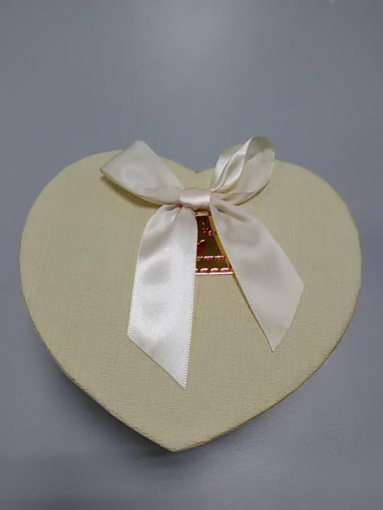 Коробочка сердце белая для подарков