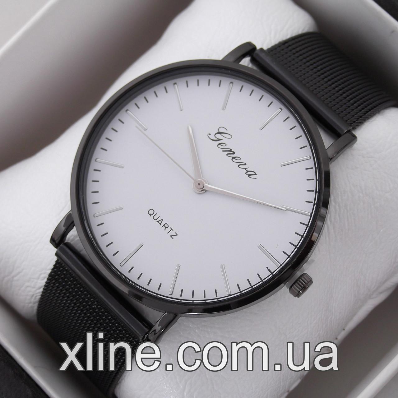 Жіночі наручні годинники Geneva M203 на металевому браслеті