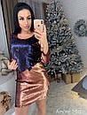 Платье из двухсторонней пайетки с рукавом 3/4 73plt2057, фото 4