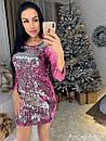Платье из двухсторонней пайетки с рукавом 3/4 73plt2057, фото 6