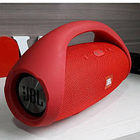 Колонка большая JBL Boombox BIG красная. Блютуз колонка беспроводная + Подарки. 34 см.