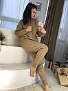 Вязаный женский брючный костюм двойная вязка 58kos895, фото 2
