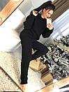 Вязаный женский брючный костюм двойная вязка 58kos895, фото 3