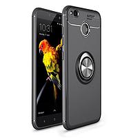 Силиконовый чехол Sirius Metal Ring для Xiaomi Redmi 4X black