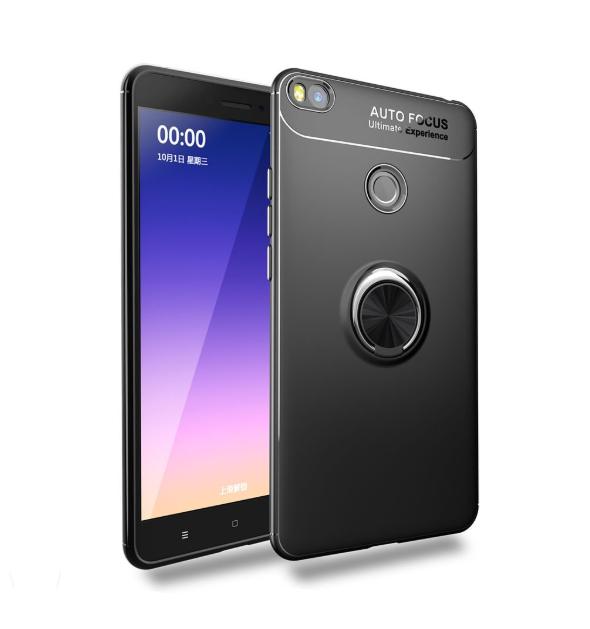 Силиконовый чехол Sirius Metal Ring для Xiaomi Mi Max 2 black
