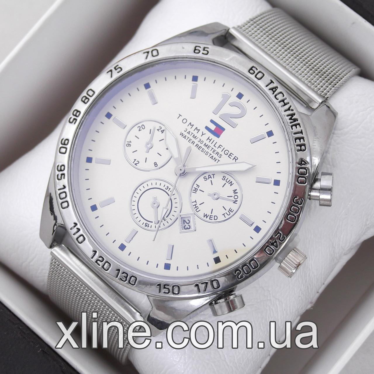 Мужские наручные часы Tommy Hilfiger T98 на металлическом браслете