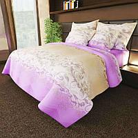 Двуспальное постельное белье Виолити / бязь / Простынь на резинке / Постільна білизна / 7A12C2 - 1046
