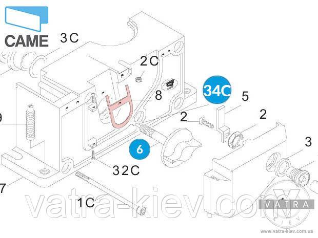 119ribx004 Ручка разблокировки привода Came BX