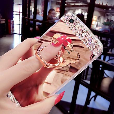 Чехол-накладка TPU Luxury Bear rose gold Huawei P8 Lite
