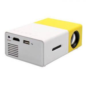 Портативный мультимедийный проектор Led Projector YG300 с динамиком