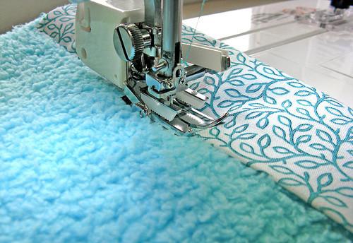 сшивание минки плюша