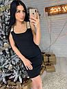 Облегающее черное платье без рукава с декором 73plt2161, фото 3