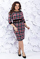 Клетчатое женское платье 48-50-54 р