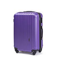 Средний пластиковый чемодан Wings 2011 на 4 колесах фиолетовый
