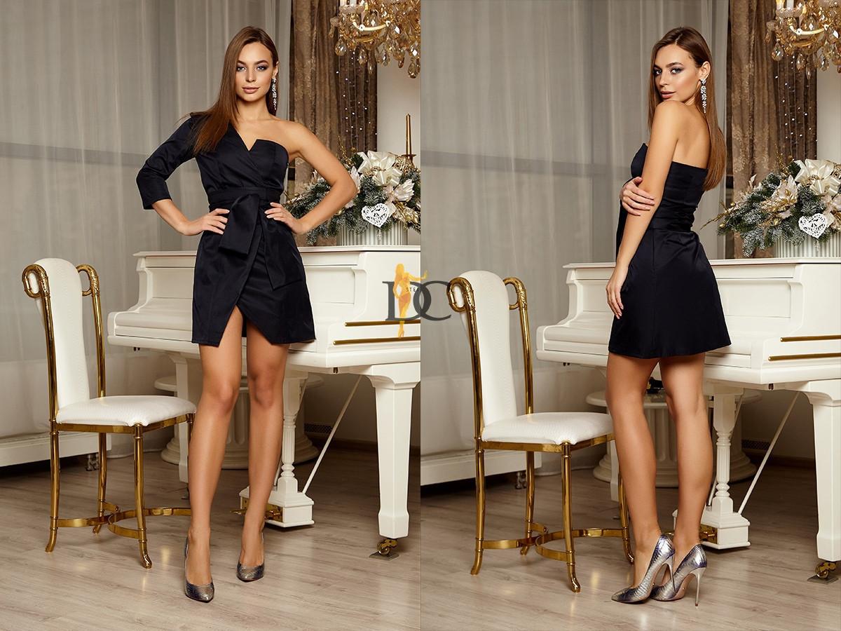 Платье короткое с одним рукавом 31plt2207
