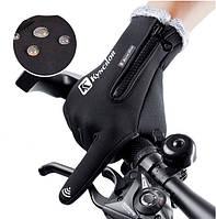 Велосипедные перчатки с сенсором для смартфона ЗП-106